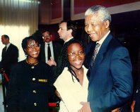 Niya with Nelson Mandela
